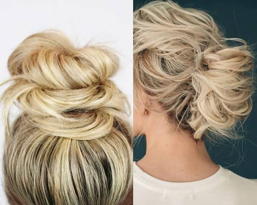 Hairstyles for rainy days - Messy bun