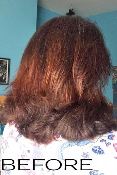 Natural hair colour review before picture