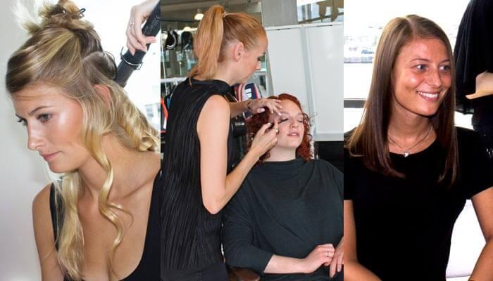 Hair models behind the scenes